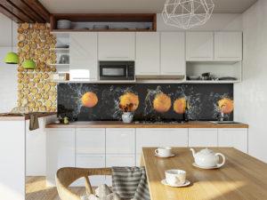 FM 042 Апельсины на черном в интерьере