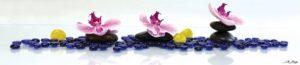 SP 036 Орхидеи с синими камнями
