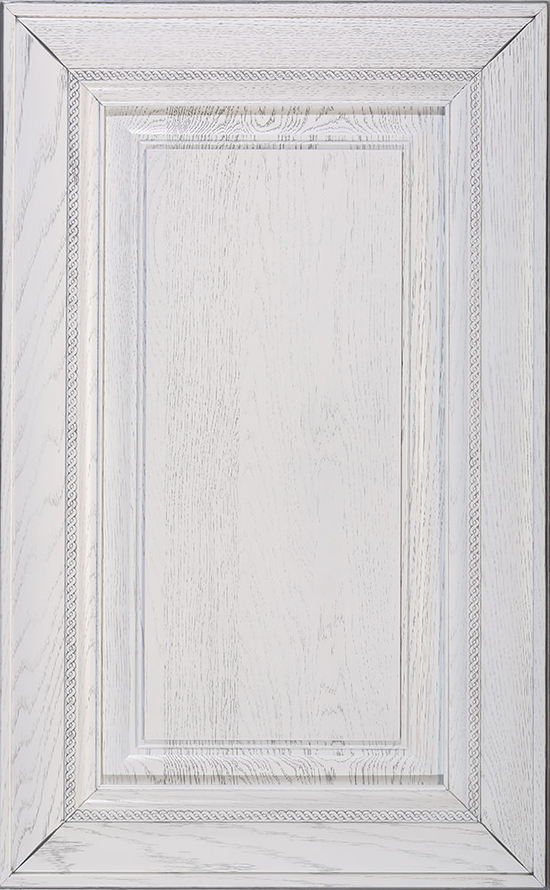 Глория белая, серебряная патина