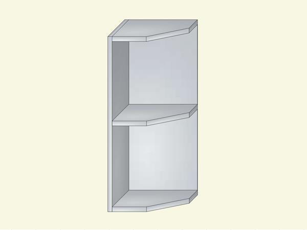 Корпус для кухни навесной открытый, оконечный, арт. 4К