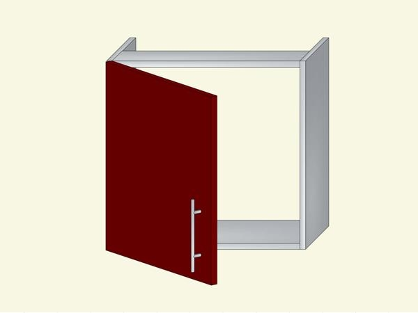 Корпус для кухни навесной под встроенную вытяжку на 1 дверь, арт. 39К