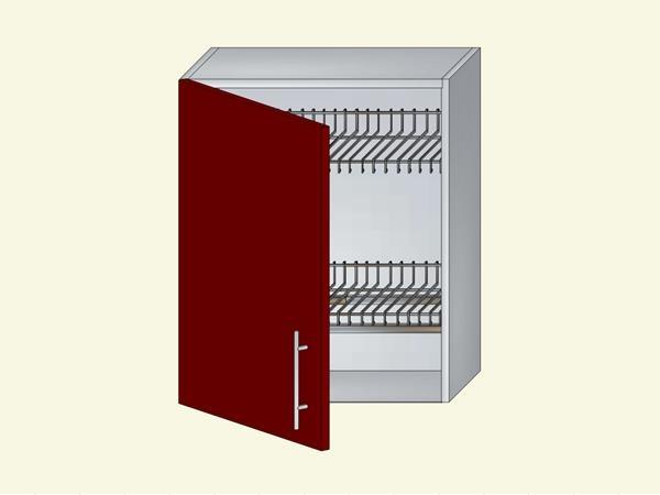 Корпус для кухни навесной под посудосушитель на 1 дверь, арт. 12К