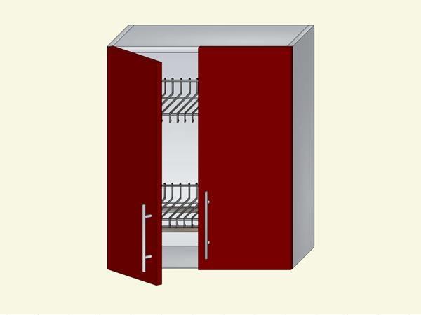 Корпус для кухни навесной под посудосушитель на 2 двери, арт. 13К