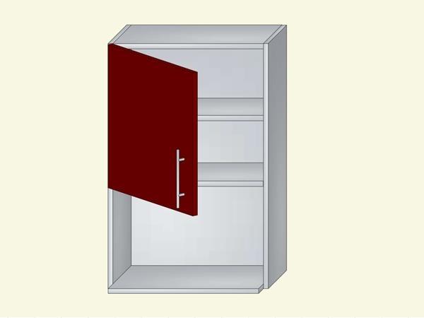 Корпус для кухни навесной с нишей под бытовую технику на 1 дверь, арт. 10К