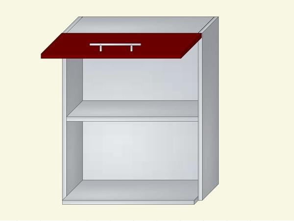 Корпус для кухни навесной с нишей под бытовую технику на 1 дверь на газ-лифте, арт. 11К