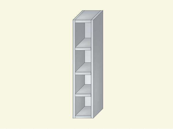 Корпус для кухни навесной узкий, открытый, арт. 2К