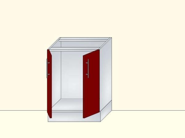 Напольный модуль для кухни под мойку с 2 дверями, арт. 33К