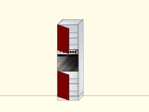 Напольный модуль-пенал для кухни с нишей под духовку и 2 дверями, арт. 37К