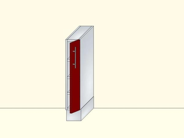 Напольный нижний модуль для кухни закрытый на 1 дверь, арт. 15К