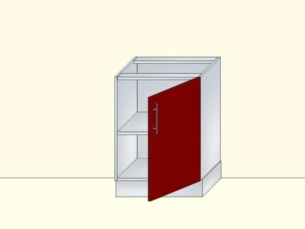 Напольный нижний модуль для кухни на 1 дверь, арт. 18К