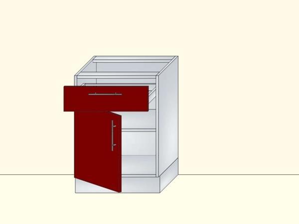 Напольный нижний модуль для кухни на 1 дверь и 1 ящик, арт. 20К