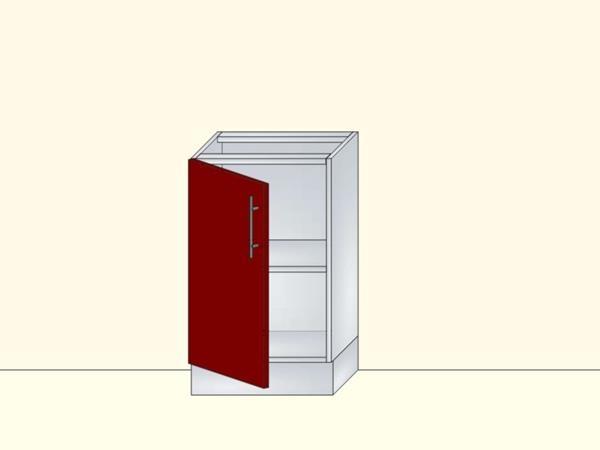 Напольный нижний модуль для кухни на 1 дверь малой глубины, арт. 34К