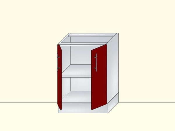 Напольный нижний модуль для кухни на 2 двери, арт. 19К
