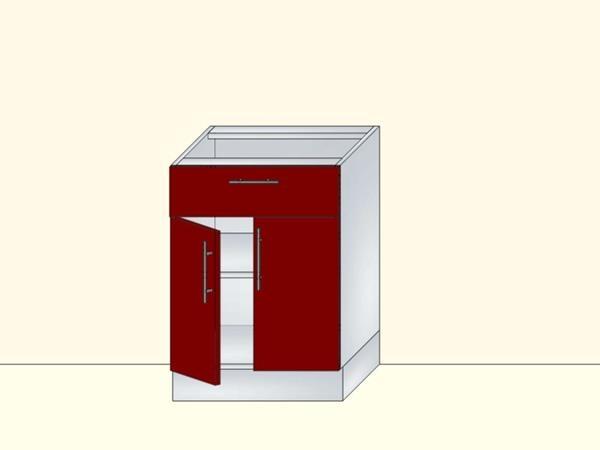 Напольный нижний модуль для кухни на 2 двери и 1 ящик, арт. 22К