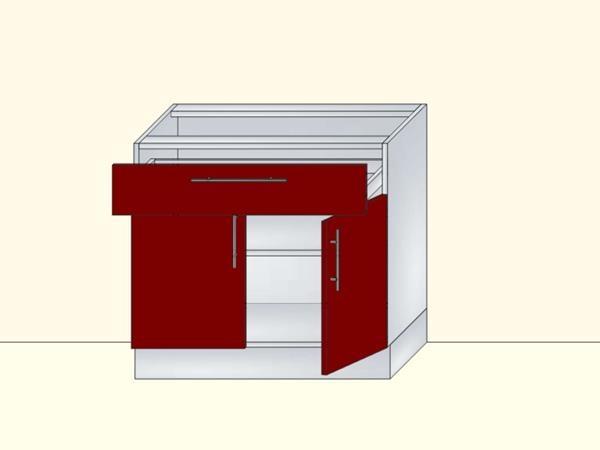 Напольный нижний модуль для кухни на 2 двери и 1 ящик, арт. 41К