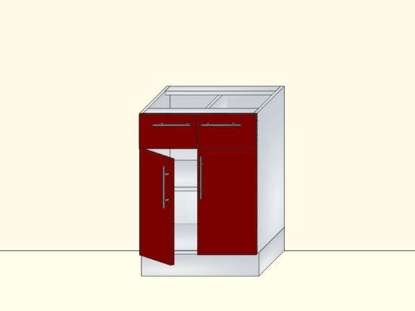 Напольный нижний модуль для кухни на 2 двери и 2 ящика, арт. 23К