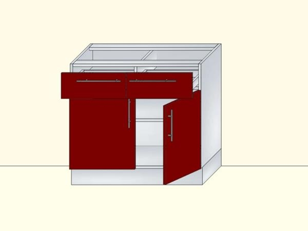 Напольный нижний модуль для кухни на 2 двери и 2 ящика, арт. 42К