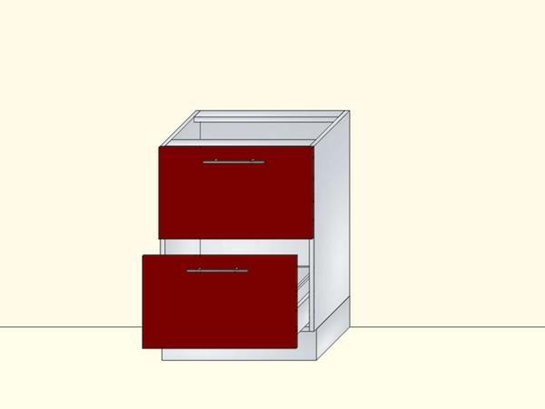 Напольный нижний модуль для кухни на 2 ящика, арт. 24К