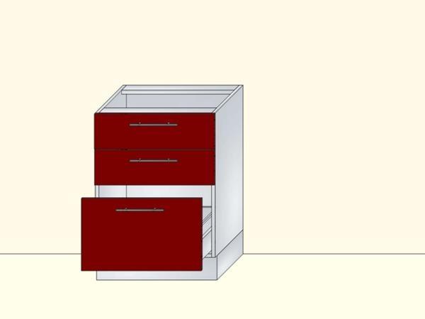 Напольный нижний модуль для кухни на 3 ящика, арт. 25К
