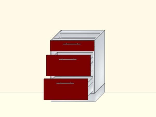 Напольный нижний модуль для кухни на 3 ящика, арт. 26К