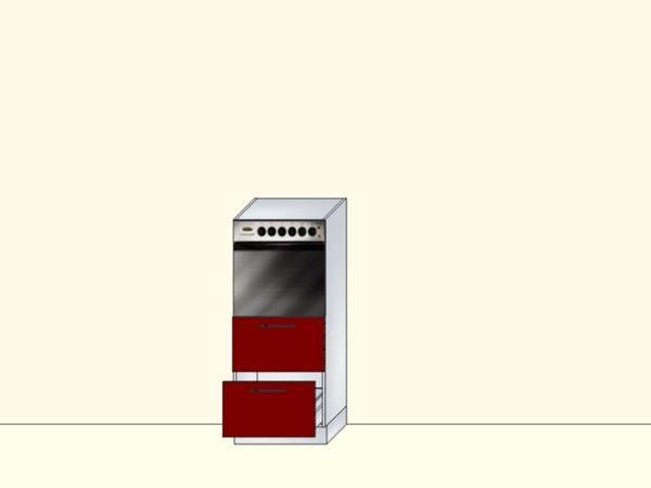 Напольный нижний модуль для кухни под духовой шкаф с 2 ящиками, арт. 35К