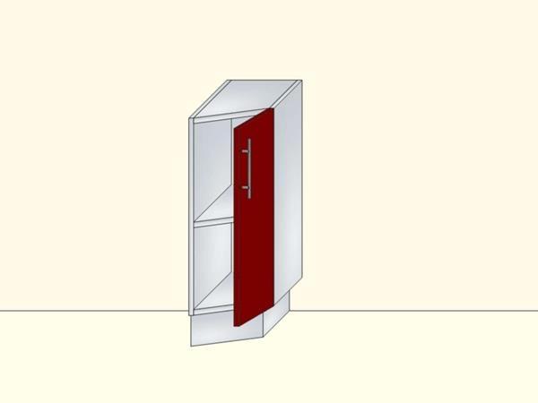 Напольный нижний модуль для кухни торцевой закрытый на 1 дверь, арт. 16К