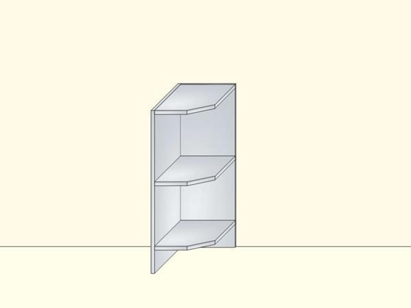 Напольный нижний модуль для кухни торцевой открытый, арт. 17К