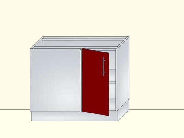 Напольный угловой модуль для кухни на 1 дверь, арт. 28К