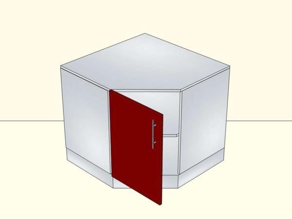 Напольный угловой модуль для кухни на 1 дверь с подиумом, арт. 29К